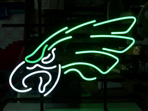 Custom Business NEON SIGN board For PHILADELPHIA EAGLES  REAL  GLASS Tube BEER BAR PUB Club Shop Light Signs 17*14""