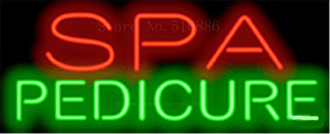 "17*14"" Spa Pedicure NEON SIGN REAL GLASS BEER BAR PUB LIGHT SIGNS store display  Packing  Garage Bulbs Advertising Lights"