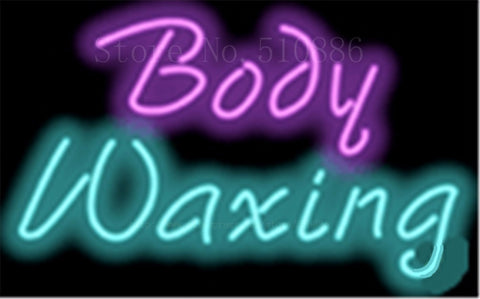 "17*14"" Body Waxin NEON SIGN REAL GLASS BEER BAR PUB LIGHT SIGNS store display Restaurant Shop Beauty business Advertising Lights"