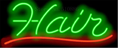 "17*14"" Hair NEON SIGN REAL GLASS BEER BAR PUB LIGHT SIGNS store display business salon Restaurant  Shop Advertising Lights"