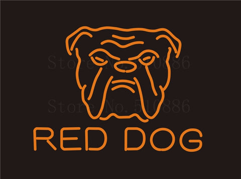 Custom Signage NEON SIGNS For Red Dog  Sports GLASS Tube BAR PUB Signboard Display Decorate Store Shop Light Sign 17*14""