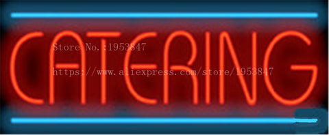"Catering Deli Neon sign Real Glass Tube Bulbs Light Bar Beer Club Decoration Custom Signs Signboard Bread Store Shop  17""x14"""