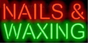 "17*14"" Nails & Waxing NEON SIGN REAL GLASS BEER BAR PUB LIGHT SIGNS store display beauty Restaurant  Shop Advertising Lights"