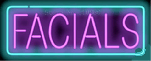"17*14"" Facials NEON SIGN REAL GLASS BEER BAR PUB LIGHT SIGNS store display Packing Garage Bulbs business Advertising Lights"