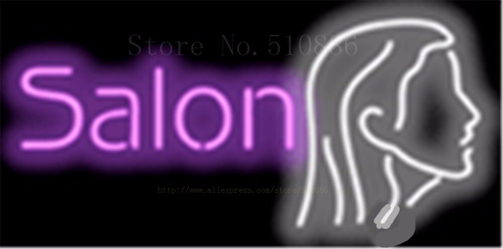 "17*14"" Salon NEON SIGN REAL GLASS BEER BAR PUB LIGHT SIGNS store display  Restaurant  Shop business financial Advertising Lights"