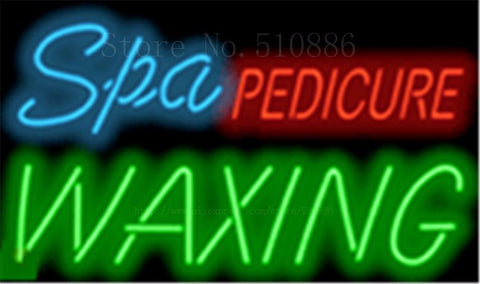 "17*14"" Spa Pedicure Waxing NEON SIGN REAL GLASS BEER BAR PUB LIGHT SIGNS store display Packing Garage Bulbs Advertising Lights"