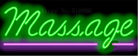 "17*14"" Massage NEON SIGN REAL GLASS BEER BAR PUB LIGHT SIGNS store display  Restaurant  Shop business Advertising Lights"