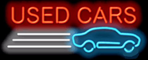 "Used Cars Auto Garage Car Tube Neon sign Beer Club Handcrafted Automotive signs Shop Store Business Signboard Signage 17""x14"""
