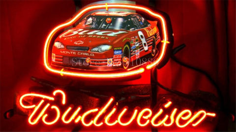 NEON SIGN ForEarnhardt Jr Budweiser #8 Winston Race Cup Car GLASS Tube BEER BAR PUB  store display  Shop Light Signs 17*14""