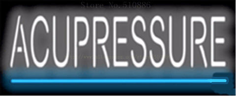 "17*14"" Acupressure NEON SIGN REAL GLASS BEER BAR PUB LIGHT SIGNS store display Restaurant Shop Beauty Advertising Lights"
