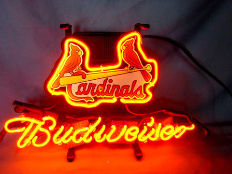 Business NEON SIGN board For ST LOUIS CARDINALS Baseball  REAL GLASS Tube BEER BAR PUB Club Shop Light Signs 17*14""