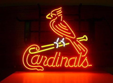 Business Custom NEON SIGN board For Baseball St. Louis Cardinals REAL GLASS Tube BEER BAR PUB Club Shop Light Signs 15*14""