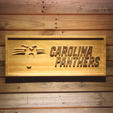 Carolina Panthers 3D Wooden Bar Sign