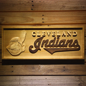 Cleveland Indians 3D Wooden Sign