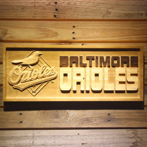 Baltimore Orioles 3D Wooden Sign