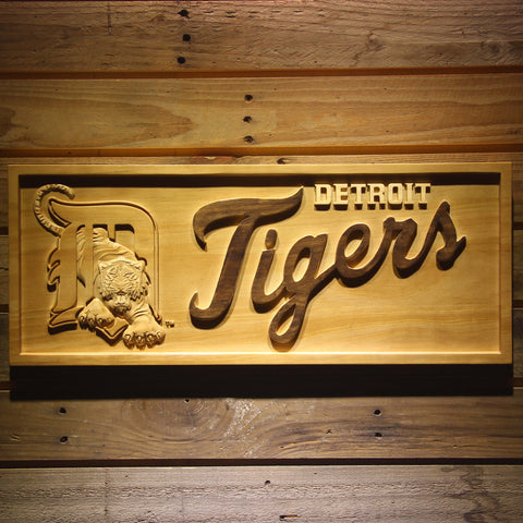 Detroit Tigers 3D Wooden Sign
