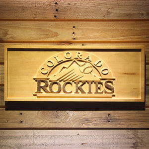 Colorado Rockies 3D Wooden Sign