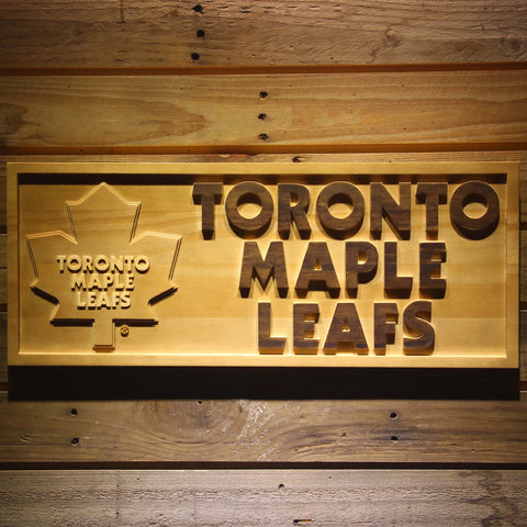 Toronto Maple Leafs 3D Wooden Sign