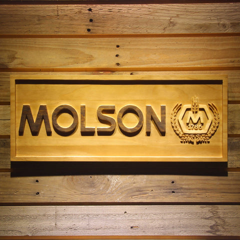 Molson Beer 3D Wooden Bar Sign