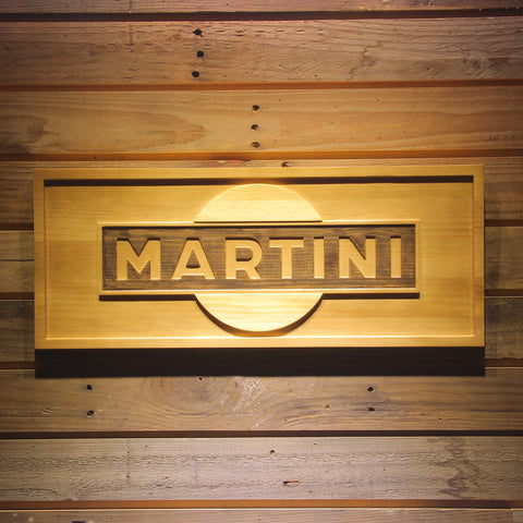Martini Beer 3D Wooden Bar Sign
