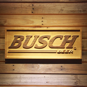 Busch Beer 3D Wooden Sign