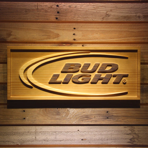 BUD LIGHT Beer 3D Wooden Sign