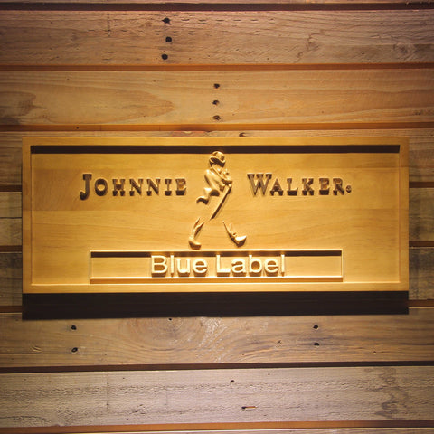 Johnnie Walker Blue Label Bar 3D Wooden Sign
