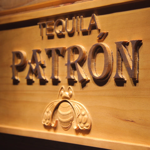 Tequila Patron Bar 3D Wooden Sign