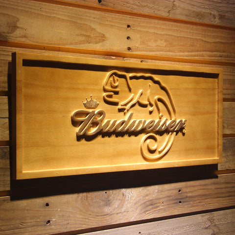Budweiser Lizard Beer 3D Wooden Sign