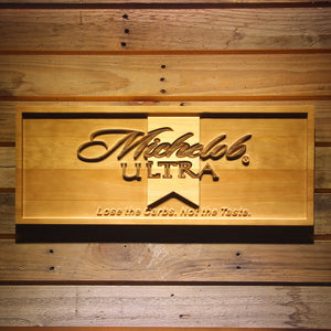 Michelob Ultra Beer 3D Wooden Sign