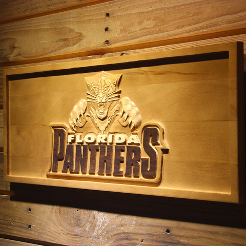 Florida Panthers 3D Wooden Sign