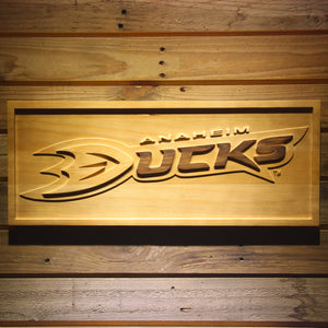 Anaheim Ducks 3D Wooden Sign