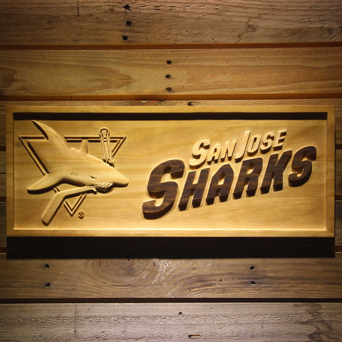 San Jose Sharks 3D Wooden Sign