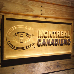 Montreal Canadiens 3D Wooden Sign