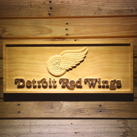 Detroit Red Wings 3D Wooden Sign