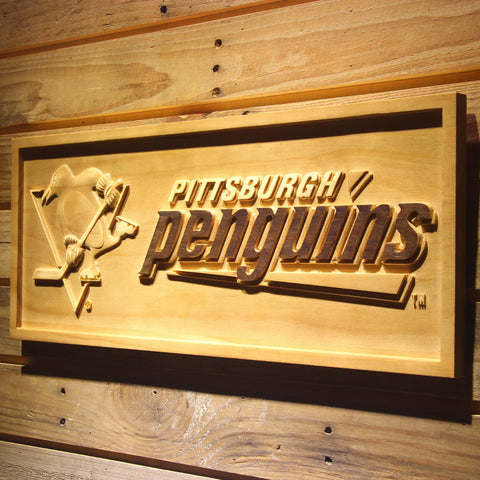 Pittsburgh Penguins 3D Wooden Sign
