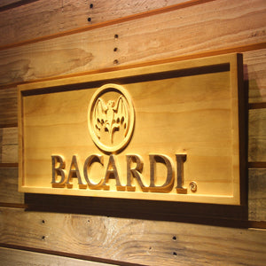 Bacardi Beer 3D Wooden Sign
