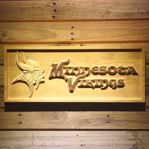 Minnesota Vikings 3D Wooden Sign