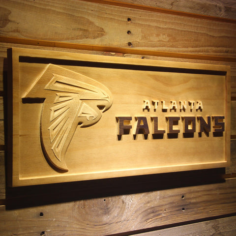 Atlanta Falcons Football 3D Wooden Sign