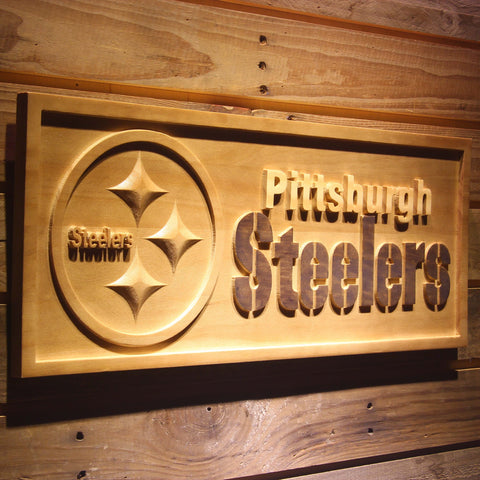 Pittsburgh Steelers 3D Wooden Sign