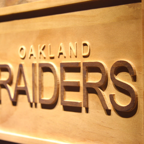 Oakland Raiders 3D Wooden Sign