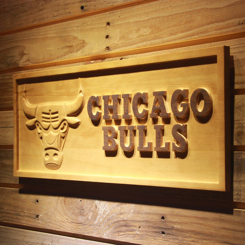 Chicago Bulls 3D Wooden Sign
