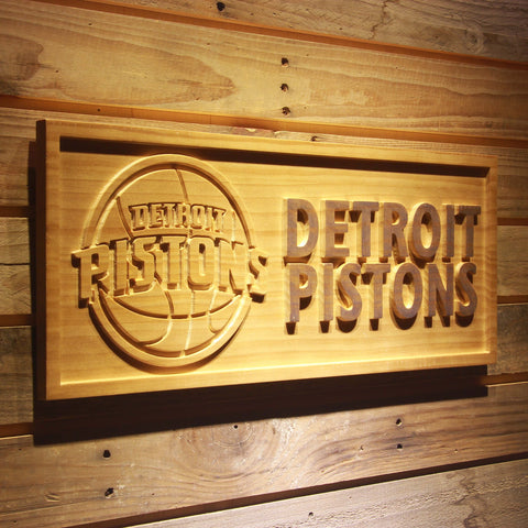 Detroit Pistons 3D Wooden Sign