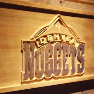Denver Nuggets 3D Wooden Sign