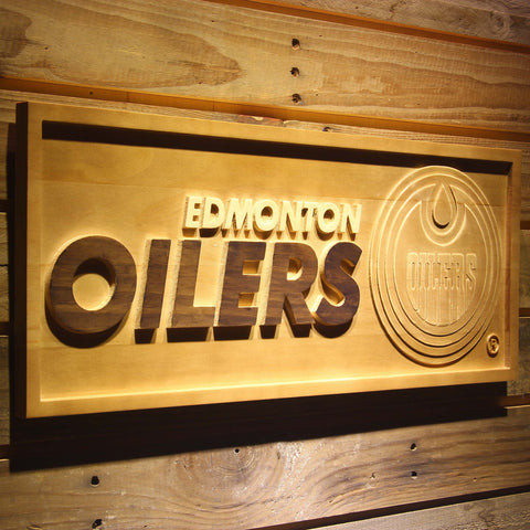 Edmonton Oilers 3D Wooden Sign