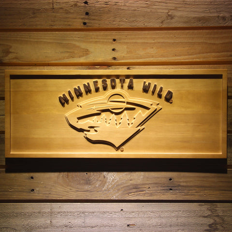 Minnesota Wild 3D Wooden Sign