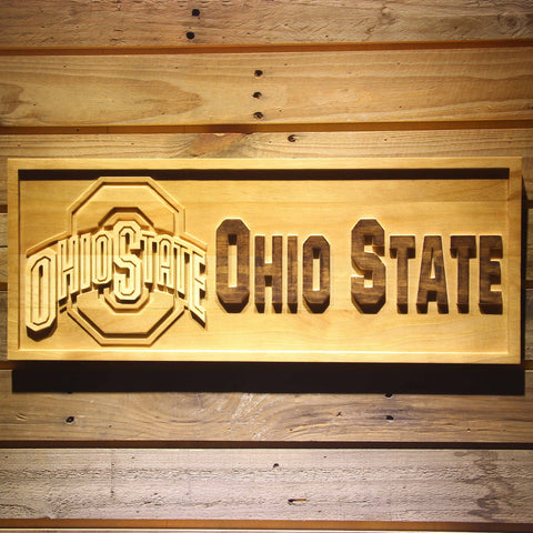 OHIO STATE Beer 3D Wooden Bar Sign