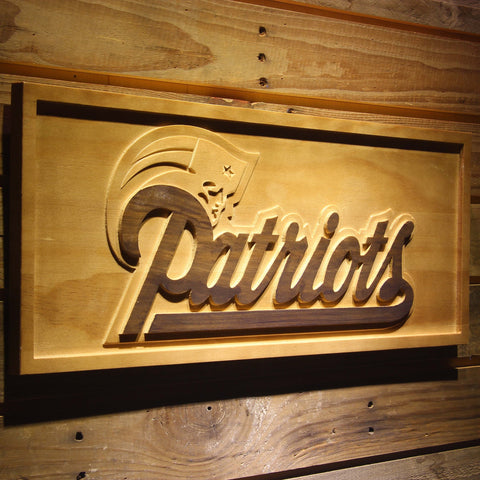 New England Patriots 3D Wooden Sign