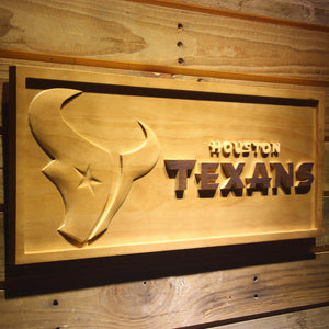 Houston Texans 3D Wooden Sign