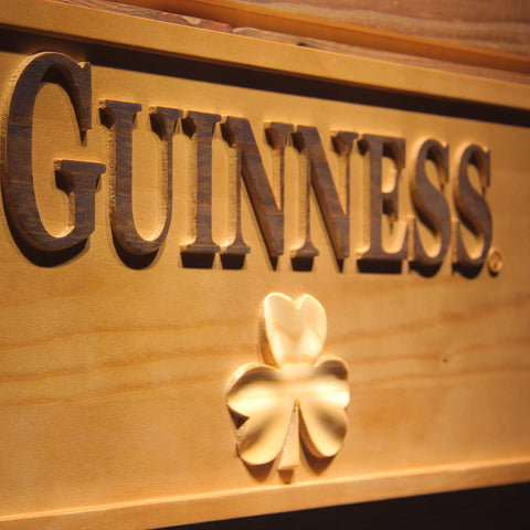 Guinness Shamrock Beer 3D Wooden Sign